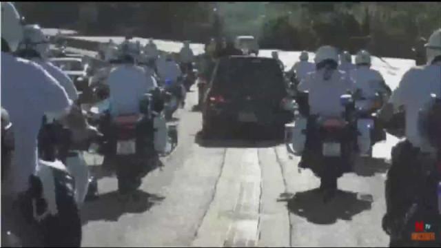 Cortejo fúnebre de Maradona teve direito a escolta centenas de motards