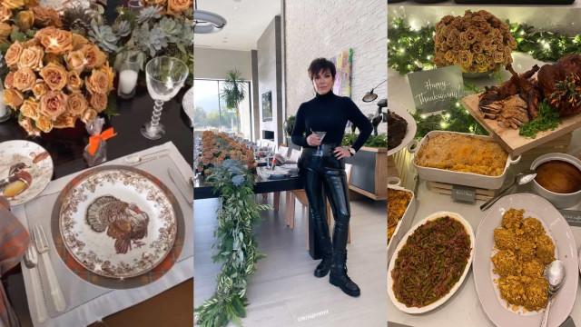 Família Kardashian criticada por se reunir no Dia de Ação de Graças.