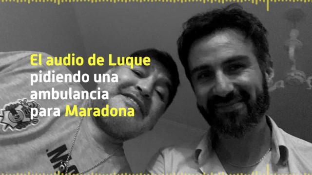 Revelado áudio da chamada do médico de Maradona para o 112
