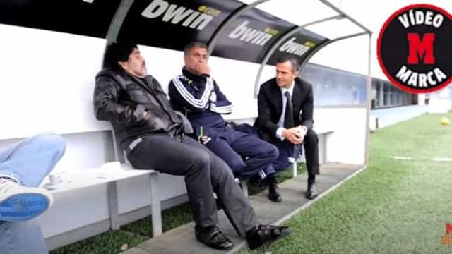 A conversa nunca vista entre Mourinho e Maradona