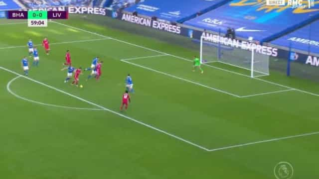 O golaço de Diogo Jota que evitou males maiores para o Liverpool