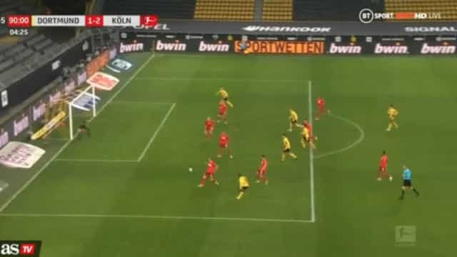 Ver para crer: Haaland falha um golo cantado no último suspiro da partida