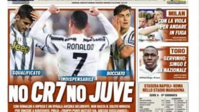 """Lá fora: Juventus 'definha' sem CR7 e """"KO"""" ao Real Madrid"""