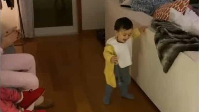Vídeo: Vera Fernandes mostra os primeiros passos do filho