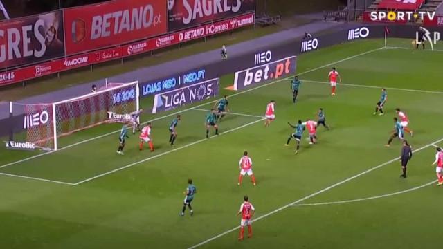 O golo de Al Musrati que valeu a vitória do Sp. Braga sobre o Farense