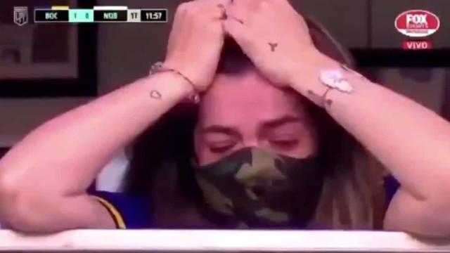 A homenagem do Boca Juniors que deixou em lágrimas a filha de Maradona