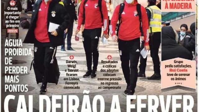 """Por cá: """"Pote intocável"""", Benfica contestado e Sp. Braga """"guerreiro"""""""