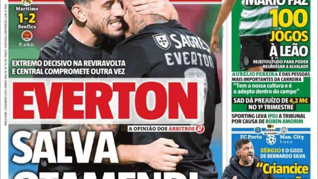 Por cá: Everton salva Otamendi e FC Porto a um ponto dos oitavos