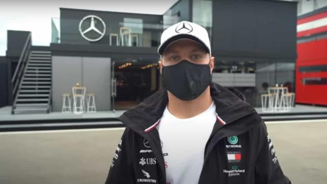 Quer ver uma 'motorhome' de F1? Bottas faz-lhe a visita guiada