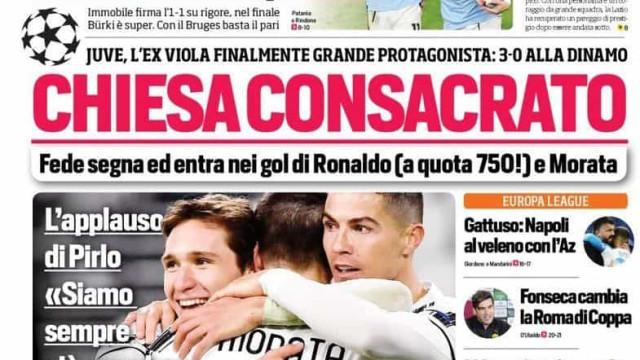 Lá fora: CR7 é 'rei do golo', United por um fio e a 'saída' de Zidane