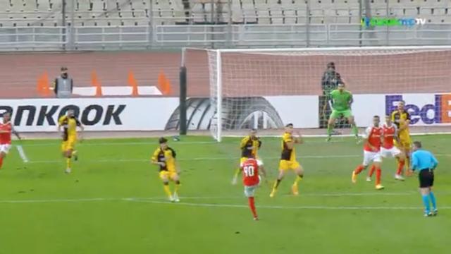 O golaço de Galeno no AEK-Sp. Braga que já está a correr o mundo