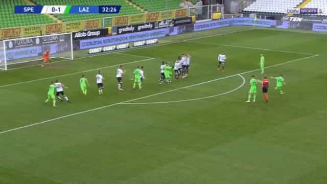 'Mamma mia': Milinkovic-Savic marcou golaço de livre pela Lazio