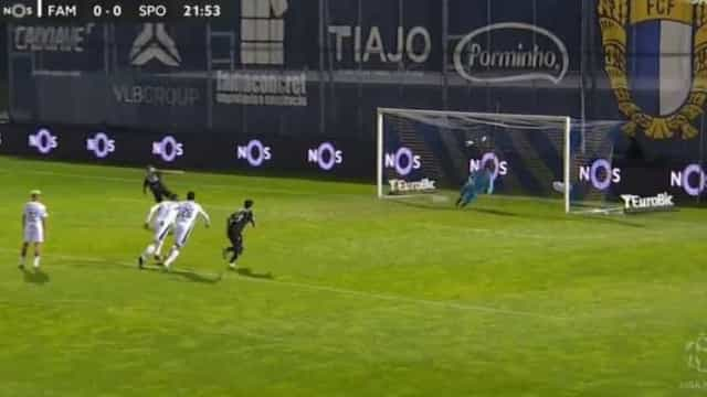 A implacável defesa de Junior à grande penalidade de Nuno Santos