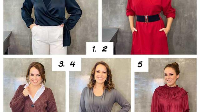 Numa semana de muito frio, eis os 5 looks de Tânia Ribas de Oliveira