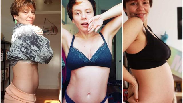 A evolução da gravidez de Cecília Henriques em imagens