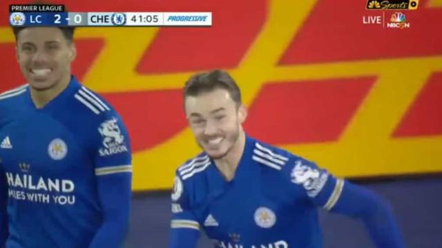 Foi com toda a classe que Maddison agravou o pesadelo do Chelsea