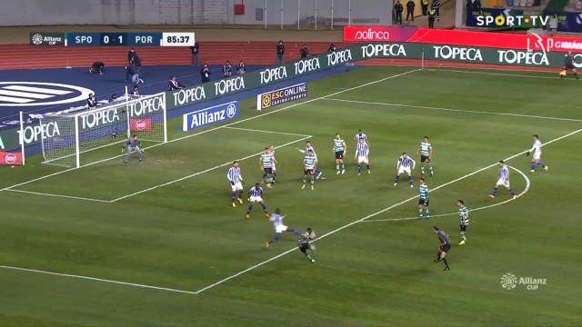O golaço de Jovane Cabral que repôs a igualdade no Sporting-FC Porto