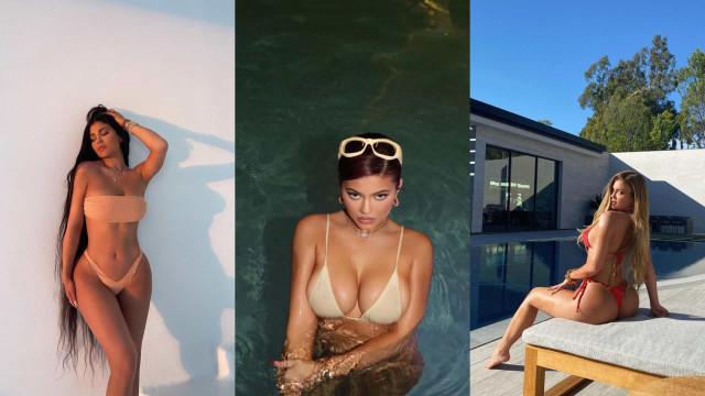 Kylie Jenner 'desafia' o frio com fotografias escaldantes em biquíni