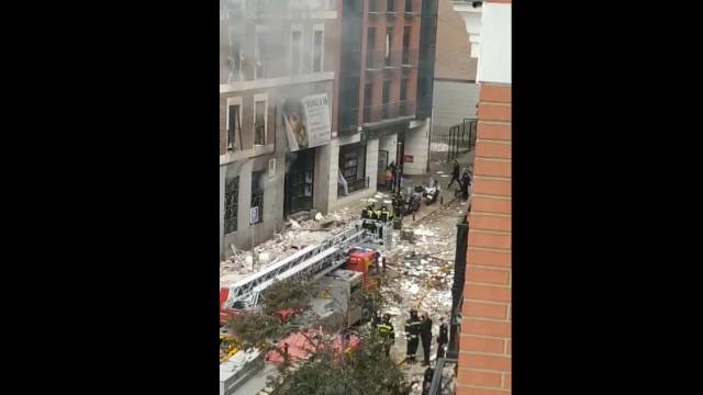 Explosão em edifício no centro de Madrid. Há, pelo menos, três mortos