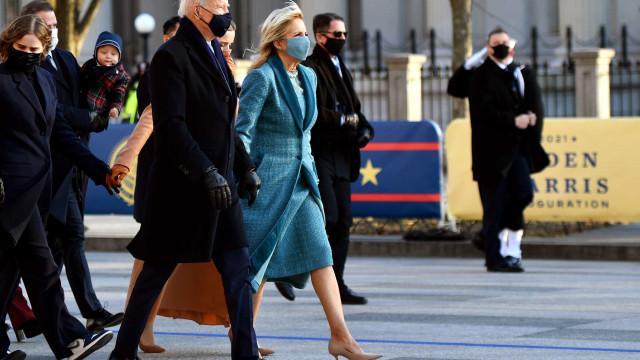 Jill Biden escolheu o azul, um apelo à América conciliadora
