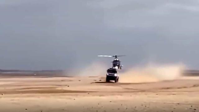 Imagens reveladas: Helicóptero choca com camião na última etapa do Dakar