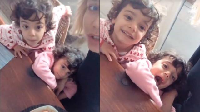 Vídeo. Luciana Abreu em momento de diversão com as filhas gémeas