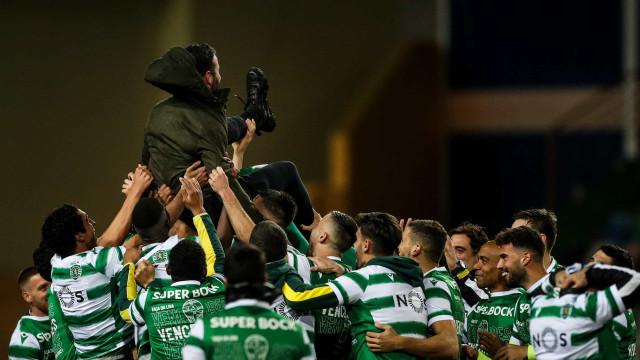Festa leonina. Assim celebrou o Sporting a conquista da 3.ª Taça da Liga