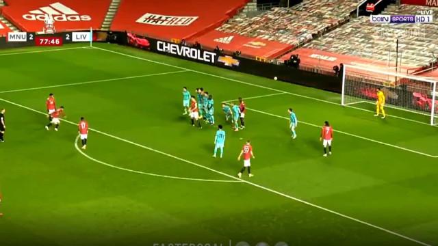 Golaço de Bruno Fernandes elimina Liverpool da Taça