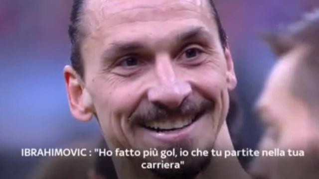 Zapata picou Ibrahimovic e levou resposta em pleno jogo