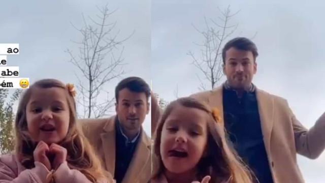 Vídeo. David Carreira destaca momento de carinho com 'filha' em novela