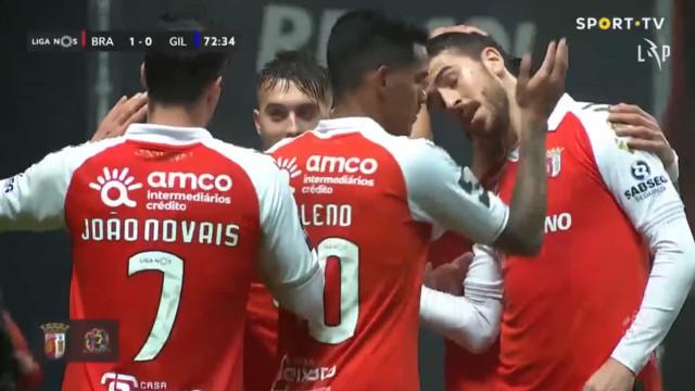 Paulinho 'redime-se' e assiste Iuri Medeiros para o golo do Sp. Braga
