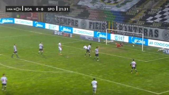 O golo de Nuno Santos que deu vantagem ao Sporting no Bessa