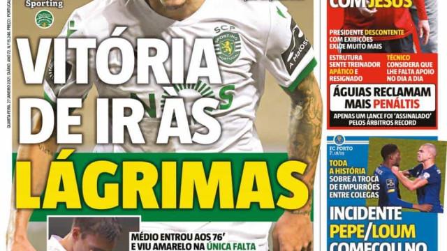 Por cá: Leão vence mas 'chora', Vieira aperta Jesus e a polémica com Pepe