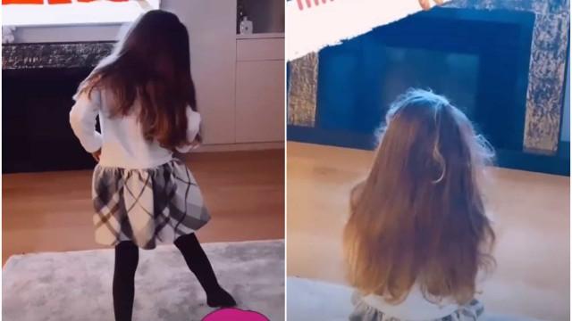 Vídeo. Laura Figueiredo mostra a filha nas aulas de ballet (em casa)