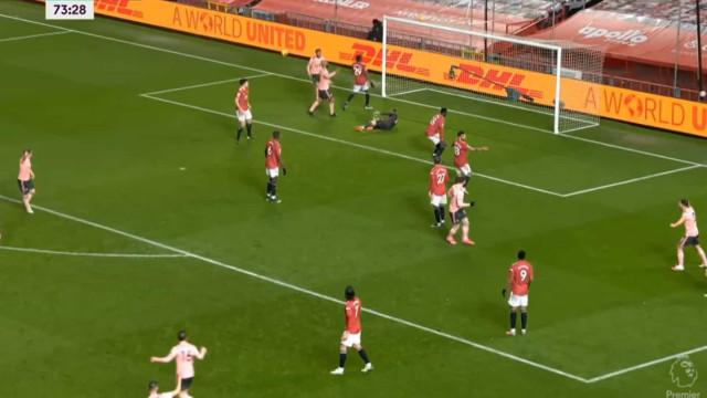 O golo do Sheffield que deixou os adeptos do United em fúria total