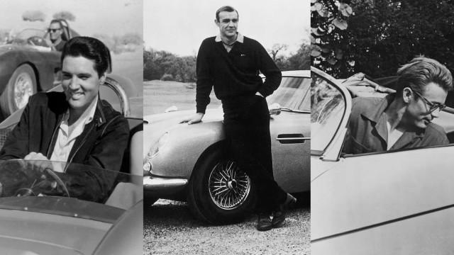 Fotos antigas de estrelas de cinema e dos seus carros