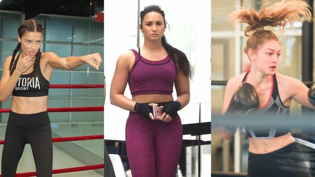 Celebridades que adoram treinos de boxe