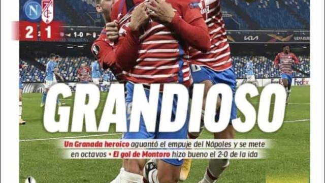 """Lá fora: Granada """"grandioso"""" e Roma de Fonseca em destaque"""