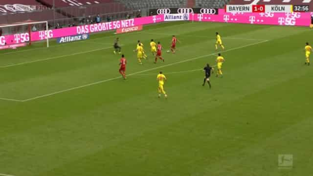Assistência de Goretzka para o golo de Lewandowski é para ver e rever