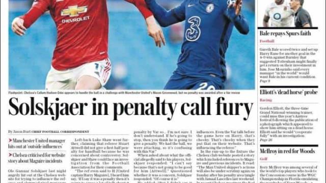 """Lá fora: United furioso com árbitro e Barça """"ainda está vivo"""""""