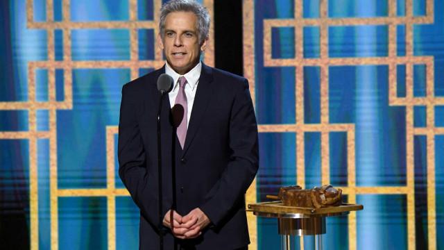 Ben Stiller aparece com cabelo completamente grisalho nos Globos de Ouro