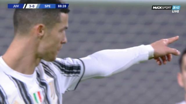 O golo de Cristiano Ronaldo que selou a vitória da Juventus