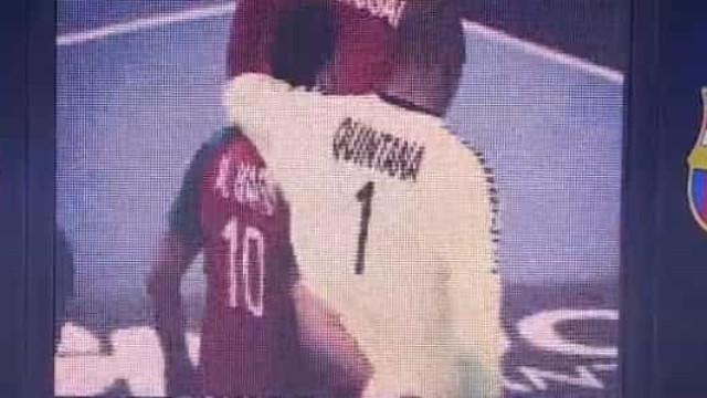 Jogo entre Barcelona e Motor contou com minuto de silêncio por Quintana