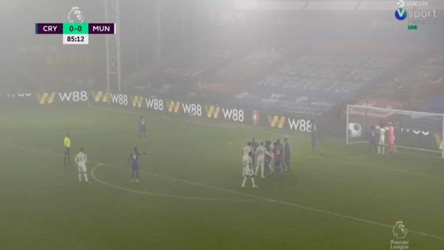 Nevoeiro foi também ele adversário de Bruno Fernandes no Palace-United