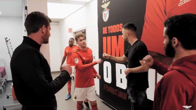 Benfica mostra os bastidores da vitória sobre o Estoril-Praia