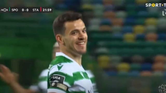 Pote voltou aos golos e deixou Sporting em vantagem diante do Santa Clara