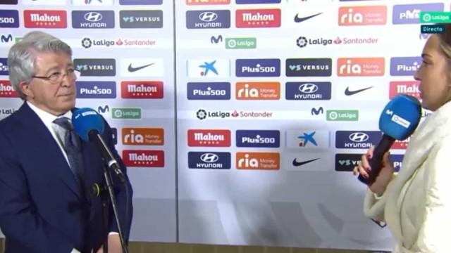 O erro garrafal do presidente do Atlético que está a deixar Espanha a rir
