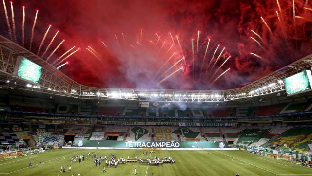 As melhores imagens da final entre o Palmeiras e o Grémio