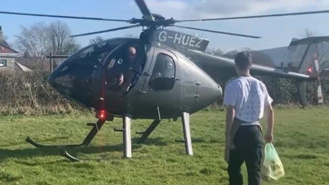 Faz viagem de helicóptero de 130 km para comprar a sua sandes preferida