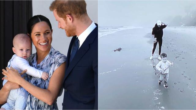 Príncipe Harry e Meghan Markle revelam vídeo nunca visto do filho